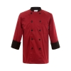 long sleeve red chef coat