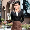 waitress black shirt + coffee apron