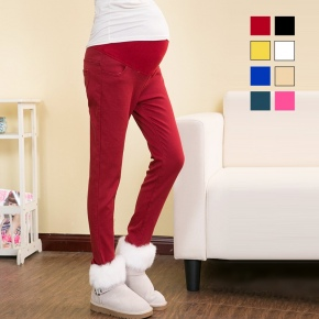 candy high quality thicken healthy pregnant woman belly pant jeans trousers