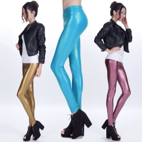 sexy low waist PU leather young girls legging pant