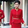 women red (skirt + blazer)