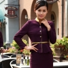 women purple(skirt + blazer)