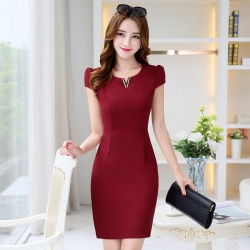 fashion grace formal stripes office work dress