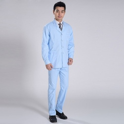 classic front opening men nurse doctor uniform suits ( jacket and tousers)