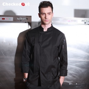 Nobal Pleated front design cook workswear chef coat jacket