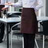 Korea style thin stripes hotel restaurant waiter waitress workwear uniform