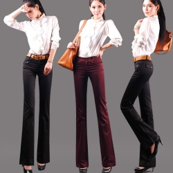 autumn design fashion casual female pants bootcut