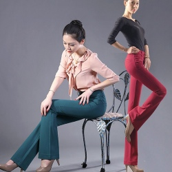 Classic slim fit straight leg women trouser jeans pant