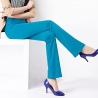 casual straight leg fit women trousers boot cut flare pant