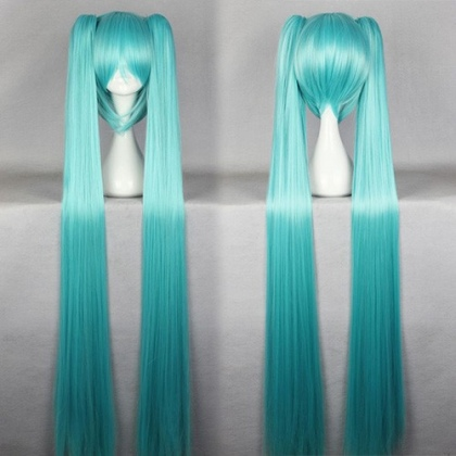 lovely long MIKU Cosplay girl's wigs,multi colors,120cm