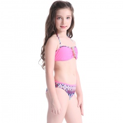 two-pieces teenager girl swimwear for little girl
