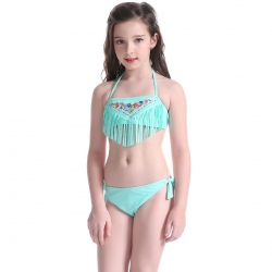 dot bow high quality girl swimwear