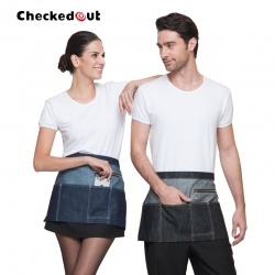fashion trend denim fabric short chef waiter apron