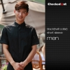 men short sleeve black (twill collar) shirtfashion contrast collar shirt restaurant staff uniform