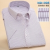 color 7summer men short sleeve office business men shirt