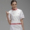 color 1brand long sleeve chef coat uniforms design for female chef