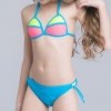 color 5small floral little girl swimwear bikini