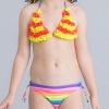 color 7small floral little girl swimwear bikini
