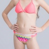 color 1cute applique child girls swimwear bikini