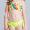color 5cute applique child girls swimwear bikini