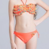 color 6cute applique child girls swimwear bikini