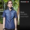 women short sleeve denim waiter store clerk jacket uniforms