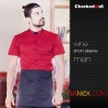 color 2summer short sleeve Europe America food restaurant waiter shirts