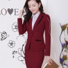 Winefashion high quality women staff uniform work suits discount BLKE1502