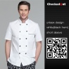 color 2high quality contrast collar hem restaurant bread store chef jacket uniforms