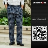color 1forks printing restaurant chef pant chef trousers uniform