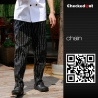 color 3forks printing restaurant chef pant chef trousers uniform