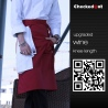 color 18upgrade restaurant cafe bar wait staff apron chef short apron