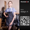 color 1fashion restaurant denim fabric chef apron cafe pub wait staff apron wholesale