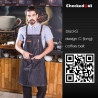 color 18fashion restaurant denim fabric chef apron cafe pub wait staff apron wholesale