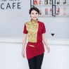 color 1fashion gold ktv bar pub waiter shirt jacket uniform for women and men