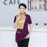 color 3fashion gold ktv bar pub waiter shirt jacket uniform for women and men