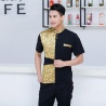 color 5fashion gold ktv bar pub waiter shirt jacket uniform for women and men