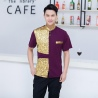 color 6fashion gold ktv bar pub waiter shirt jacket uniform for women and men