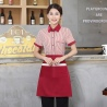 women redstripes fast food restaurant service staff uniform