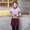 women purplestripes fast food restaurant service staff uniform