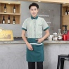 men greenstripes fast food restaurant service staff uniform