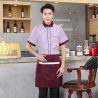 men purplestripes fast food restaurant service staff uniform