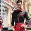 men blackrestaurants coffee bar waiter waitress uniform shirt + apron