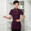 purple womenChina uniform customization waiter waitress uniform