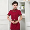 red womenChina uniform customization waiter waitress uniform