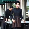 women coffeecasual Korea design long sleeve bar waiter shirt uniform