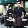 men coffeecasual Korea design long sleeve bar waiter shirt uniform