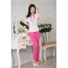 white pant suitssummer fashion half sleeve women business pant suis
