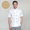 white(hem) short sleevefashion Europe America design short/ long sleeve stand collar men cook coat chef uniform