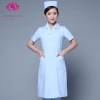 light blue short sleevepedal collar long sleeve medical care uniform nurse coat drugstore coverall